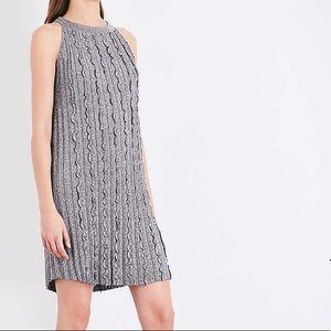 Reiss Ethol metallic-knit mini dress